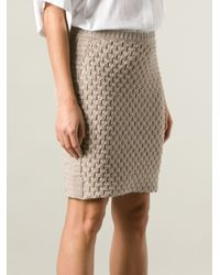 See By Chloé - Natural Knit Skirt - Lyst