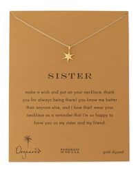 Dogeared | Metallic Sisters Wishing Star Gold-Dipped Necklace | Lyst