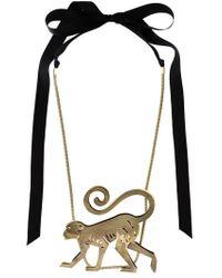 Lanvin | Metallic Monkey Pendant Necklace | Lyst