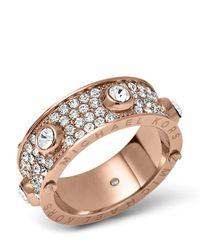 Michael Kors - Metallic Pave Astor Ring - Lyst