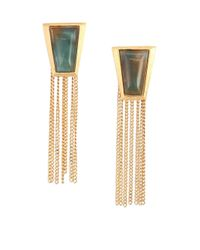 Stephanie Kantis | Impose Green Moss Agate Chain Fringe Earrings | Lyst