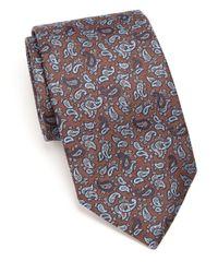 Eton of Sweden - Blue Paisley Silk Tie for Men - Lyst