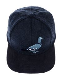 5d2956781eb Lyst - Staple The Quilted Pigeon Snapback in Blue for Men