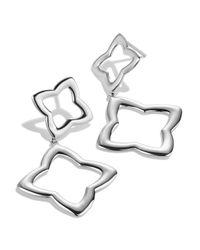 David Yurman - Metallic Quatrefoil Double-drop Earrings - Lyst