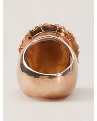 Amedeo - Metallic Owl Ring - Lyst
