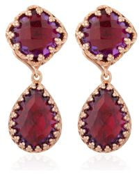 Larkspur & Hawk | Red Small Scarlet Amethyst Jane Earrings | Lyst