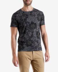 Ted Baker - Gray Leaf Print T-shirt for Men - Lyst