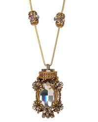 Erickson Beamon | Metallic Crystal Bead Glass Pearl Necklace | Lyst