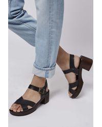 TOPSHOP | Black Hawaii Sandals | Lyst
