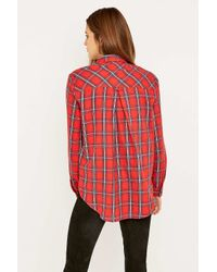 BDG | Red Olly Flannel Shirt | Lyst