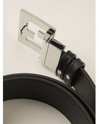 Fendi Black 'college' Belt for men