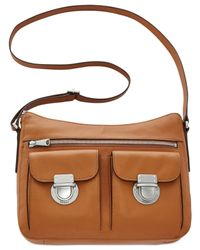 Fossil - Brown Riley Leather Hobo - Lyst
