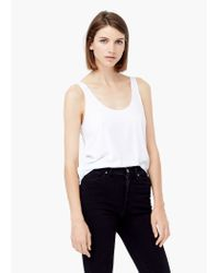 Mango - White Strap Top - Lyst