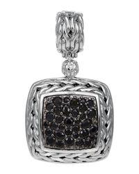 John Hardy - Metallic Classic Chain Medium Pave Black Sapphire Pendant - Lyst