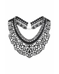 TOPSHOP | Black Laser-cut Rhinestone Necklace | Lyst