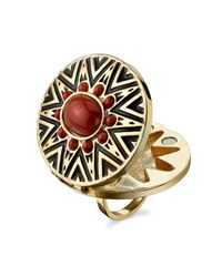 House of Harlow 1960 | Red Tribal Ring With Coral Cabochon | Lyst