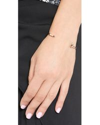 Giles & Brother - Metallic Mini Railroad Spike Cuff Bracelet - Rose Gold - Lyst