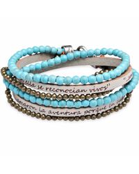 Platadepalo | Blue Bracelet With Leather And Turquoise | Lyst