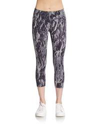 Calvin Klein | Gray Waterfall Leggings | Lyst