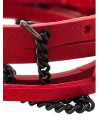 Ann Demeulemeester - Red Multi Straps Bracelet - Lyst
