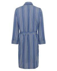 Paul Smith Blue Striped Cotton Robe for men