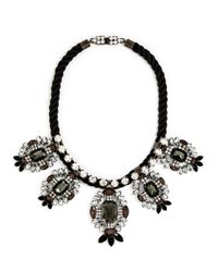 BaubleBar | Black Lucilla Shield Collar | Lyst