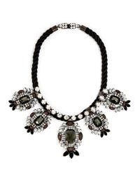 BaubleBar - Black Lucilla Shield Collar - Lyst