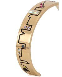 MFP MariaFrancescaPepe | Metallic Skyline 23Kt Gold Plated Brass Cuff | Lyst