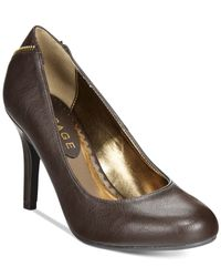 Rampage | Brown Omare Zip Back Pumps | Lyst