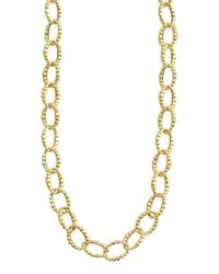 Lagos - Metallic 18k Gold Fluted Oval-link Necklace - Lyst