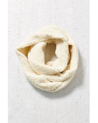 Urban Outfitters | White Sherpa Eternity Scarf | Lyst