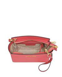 Michael Kors - Pink Selma Medium Saffiano Leather Messenger Bag - Lyst