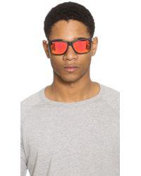 Ray-Ban - Black Rubberized Square Sunglasses for Men - Lyst