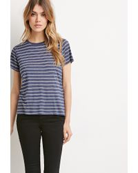 Forever 21 - Blue Classic Striped Tee - Lyst