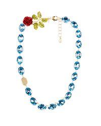 Dolce & Gabbana - Blue Crystal-embellished Necklace - Lyst