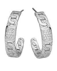 John Hardy - Metallic Pave Diamond Chain Hoop Earrings - Lyst