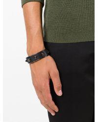 Valentino | Black 'rockstud' Bracelet for Men | Lyst