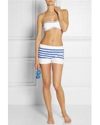 lemlem | Blue Lilly Striped Cotton-Blend Gauze Shorts | Lyst