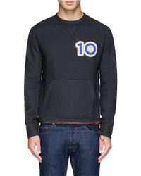 Kolor - Gray '10' Badge Sweatshirt for Men - Lyst