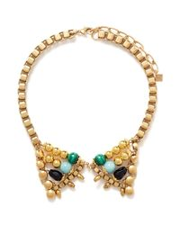 Ela Stone | Metallic Michelle Stone Collar Necklace | Lyst