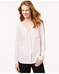 Calvin Klein Jeans - Pink Printed Button-front Shirt - Lyst