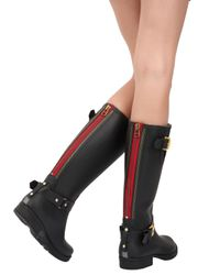 Colors Of California | Black 20Mm Rubber Boots | Lyst