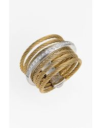 Alor | Metallic 7-row Cable & Diamond Ring | Lyst