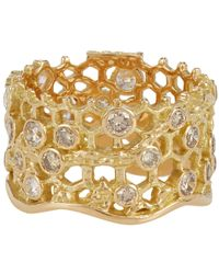Aurelie Bidermann - Metallic Dentelle Ring - Lyst