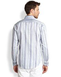 Robert Graham Blue Benito Tailored Sportshirt for men