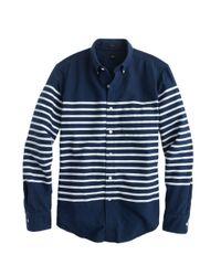 J.Crew   Blue Slim Vintage Oxford in Horizontal Stripe for Men   Lyst
