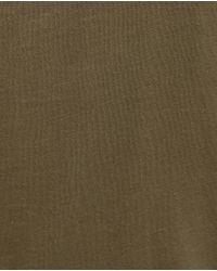 Zara   Natural V-neck Striped T-shirt   Lyst