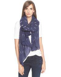 Rag & Bone - Blue 'Dagger Dot' Wool Scarf - Lyst