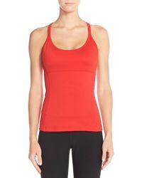 Alo Yoga | Red 'lotus' Bra Tank Top | Lyst
