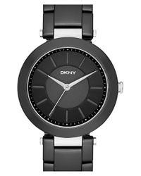 DKNY - Black 'stanhope' Bracelet Watch - Lyst